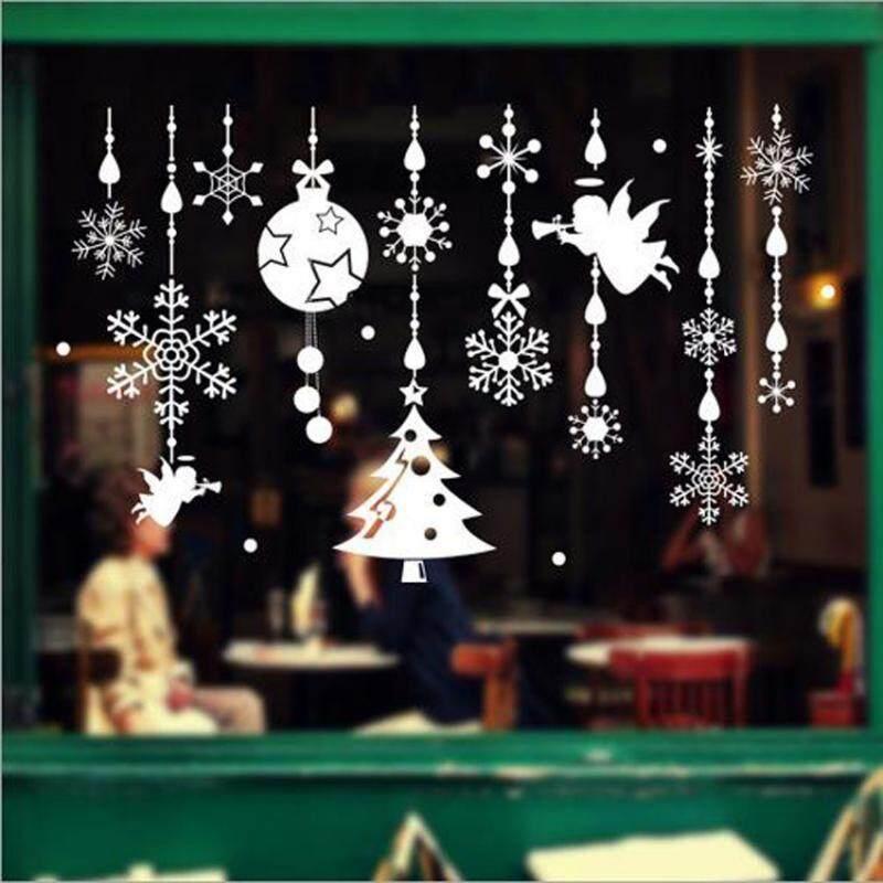 Bolehdeals Removable Christmas Tree Jingle Bell Angel Stickers Decals Xmas Wall Glass Window Sticker Home Kids Nursery Decor By Bolehdeals.