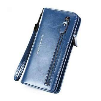 5977c0105d08 การส่งเสริม RFID Wallets for Women Wristlet Leather Clutch Travel ...