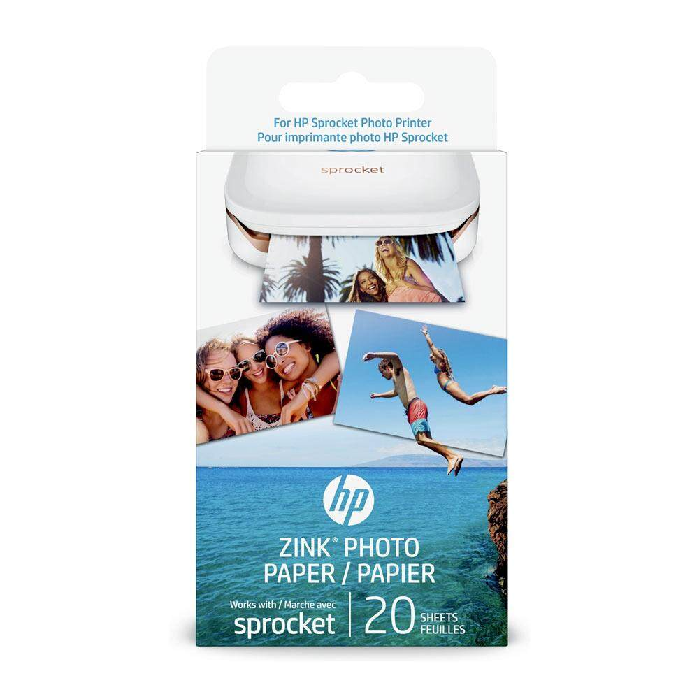 HP ZINK Sticky-backed Photo Paper - 20 sheets, 2 x 3 inch