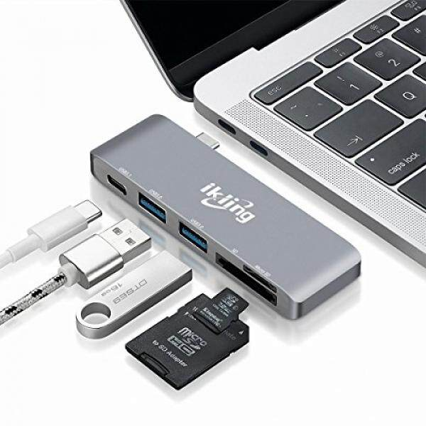 Computer Cable Adapters USB C Hub Multiport Adapter – ikling (2018 New Design)Portable Combo Hub with USB C Charging Port 2 USB 3.0 Ports SD/TF Card Reader for MacBook Pro Lenovo Asus Google Pixel USB Type C Device Owner - intl
