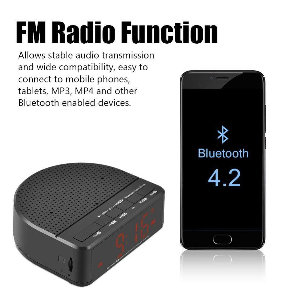 MX-01 Clock Bluetooth Speaker Portable Mini Wireless LED Alarm Clock Bluetooth Speaker FM Radio Amplifier Support TF Card - intl