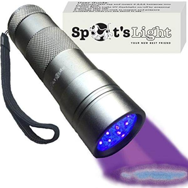 Spots Light Uv Blacklight Flashlight, Silver 12 Led, Ultraviolet Pet Urine Stain Detector Finds Dog And Cat Pee On Carpets, Rugs, Any Floor Or Wall - Intl.