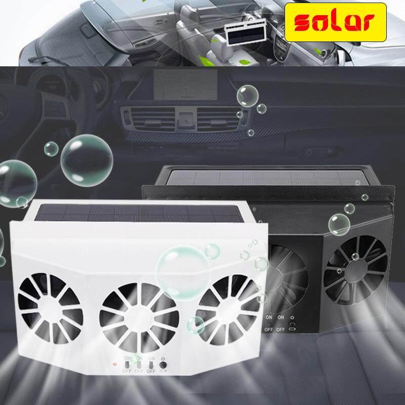 Mobil Tenaga Surya Depan/Belakang Jendela Radiator Ventilasi Udara Dingin Tiga Pendingin Fan 4 W