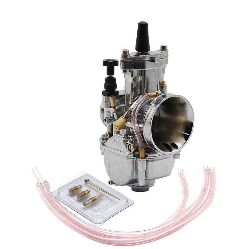 ZSDTRP Carburetor Motorcycle Racing Parts Scooters Dirt Bike ATV 32mm with  Power Jet Used 125cc-200cc(Silver)