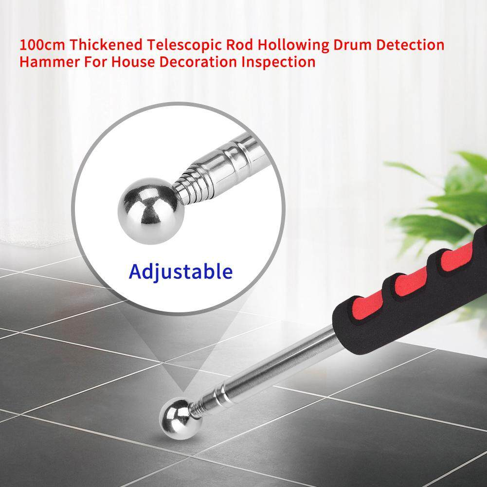 100cm Thickened Telescopic Rod Hollowing Drum Detection Hammer For House Decoration Inspection