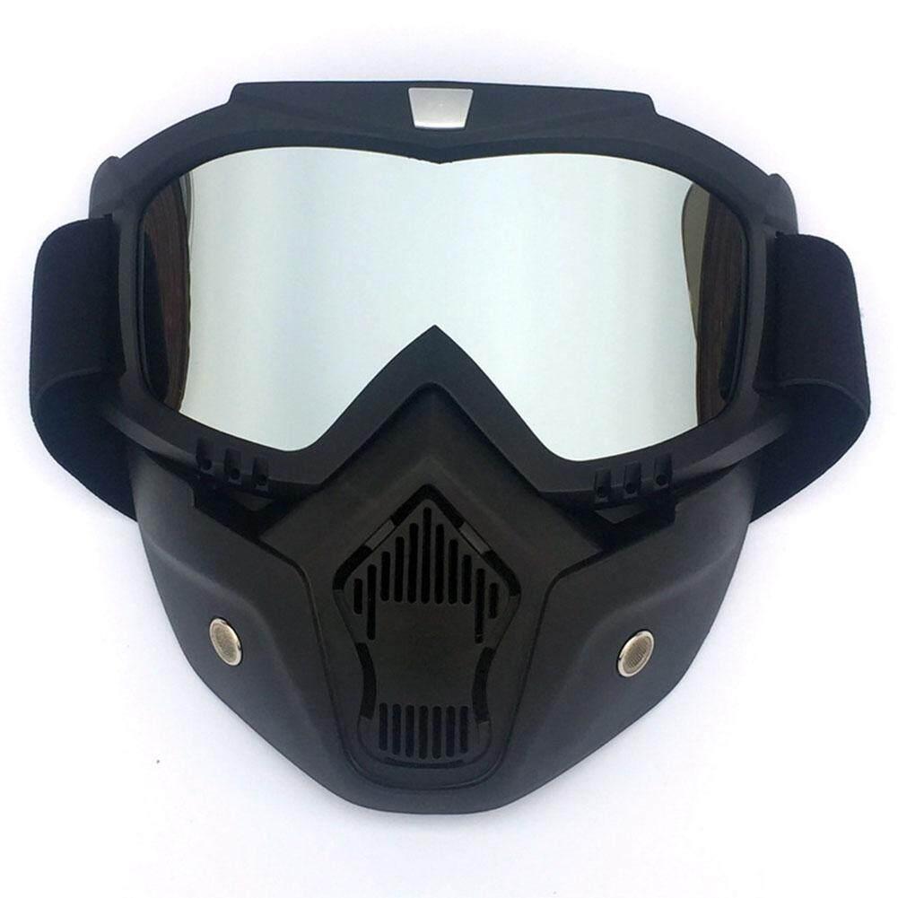 ผู้ชาย/ผู้หญิง Retro กลางแจ้งหน้ากากขี่จักรยานแว่นตาหิมะกีฬาเล่นสกีหน้ากากใบหน้าเต็มรูปแบบแว่นตา By Hhhappy Store.
