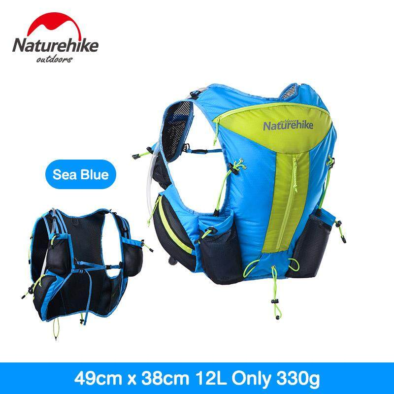Naturehike Outdoor Hiking Trekking Lightweight Men Women Hydration Backpack  Close Fitting Tactical Pack Running Bag 12L 9da1388d6d
