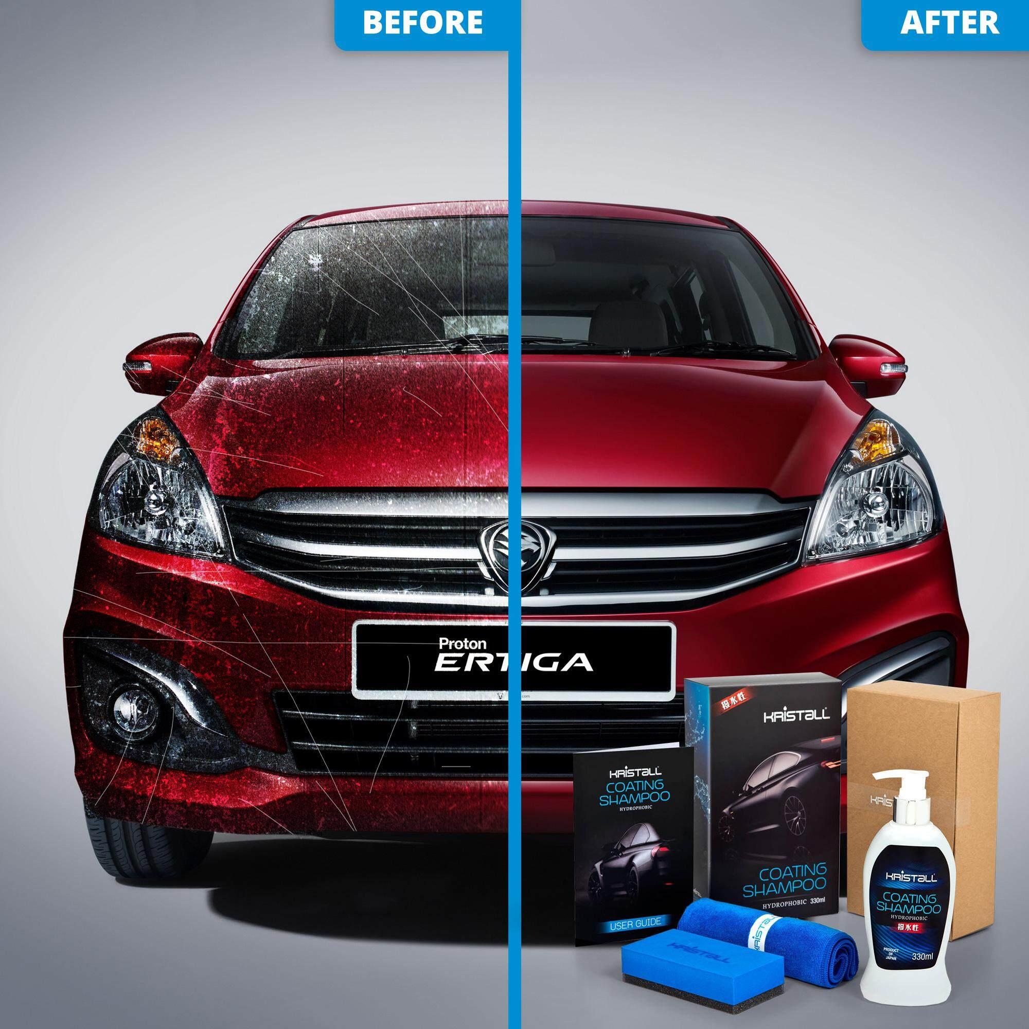 Proton Ertiga MPV Coating Shampoo - Kristall® Car Shampoo WITH Nano Coating (Car Paint Protection, Super Hydrophobic, Deep Gloss, 6.5 pH Balanced Neutral Shampoo)