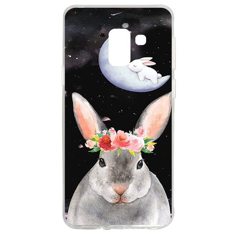 Flower Rabbit TPU Soft Silicon Phone Case Cover For Samsung Galaxy A8 2018/A5 2018
