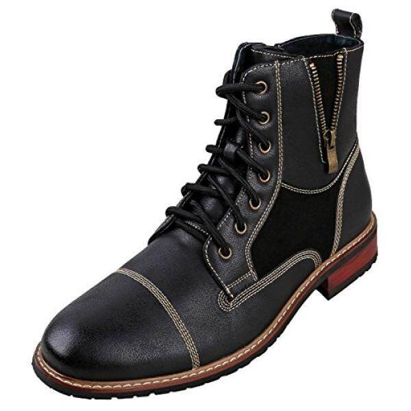 Ferro Aldo MFA-ens Lace up Military Combat Work Desert Ankle Boot w/ Leather Lining, Black, 11 D US - intl
