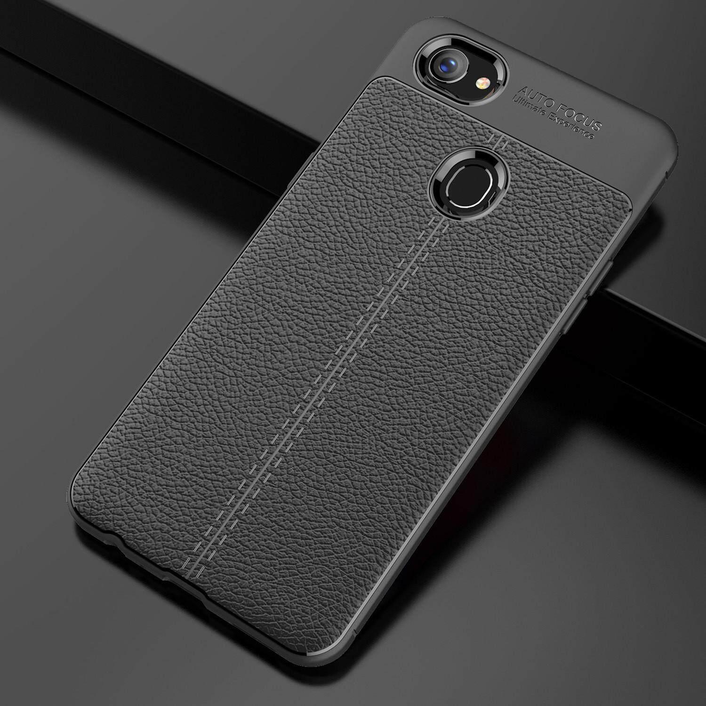 Oppo F7 Case Cover Casing Focus Fiber [Black/Blue/Red]