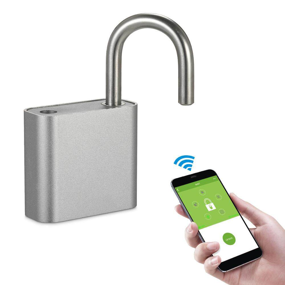 Best Price Bt Smart Keyless Lock Waterproof App Button Fingerprint Password Unlock Anti Theft Padlock Door Luggage Case Locker Lock For Android Ios System Intl