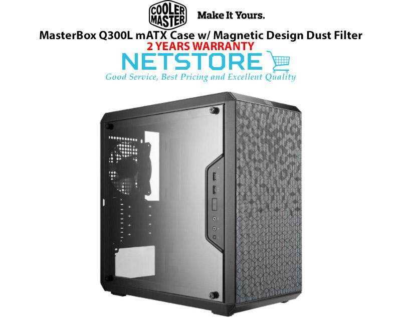 Cooler Master MasterBox Q300L mATX Case w/ Magnetic Design Dust Filter Malaysia