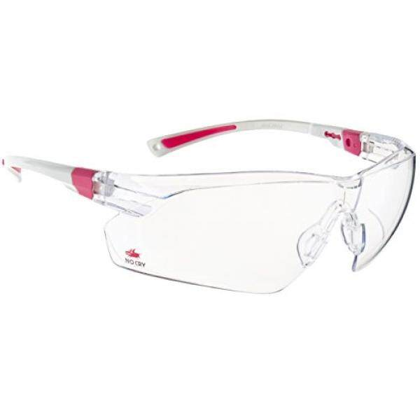 Nocry Nocry Safety Kacamata dengan Jelas Anti Kabut Tahan Gores Wrap-Around Lensa dan Tidak Ada-Slip Grip, perlindungan UV. Disesuaikan, Putih & Pink Frames-Intl