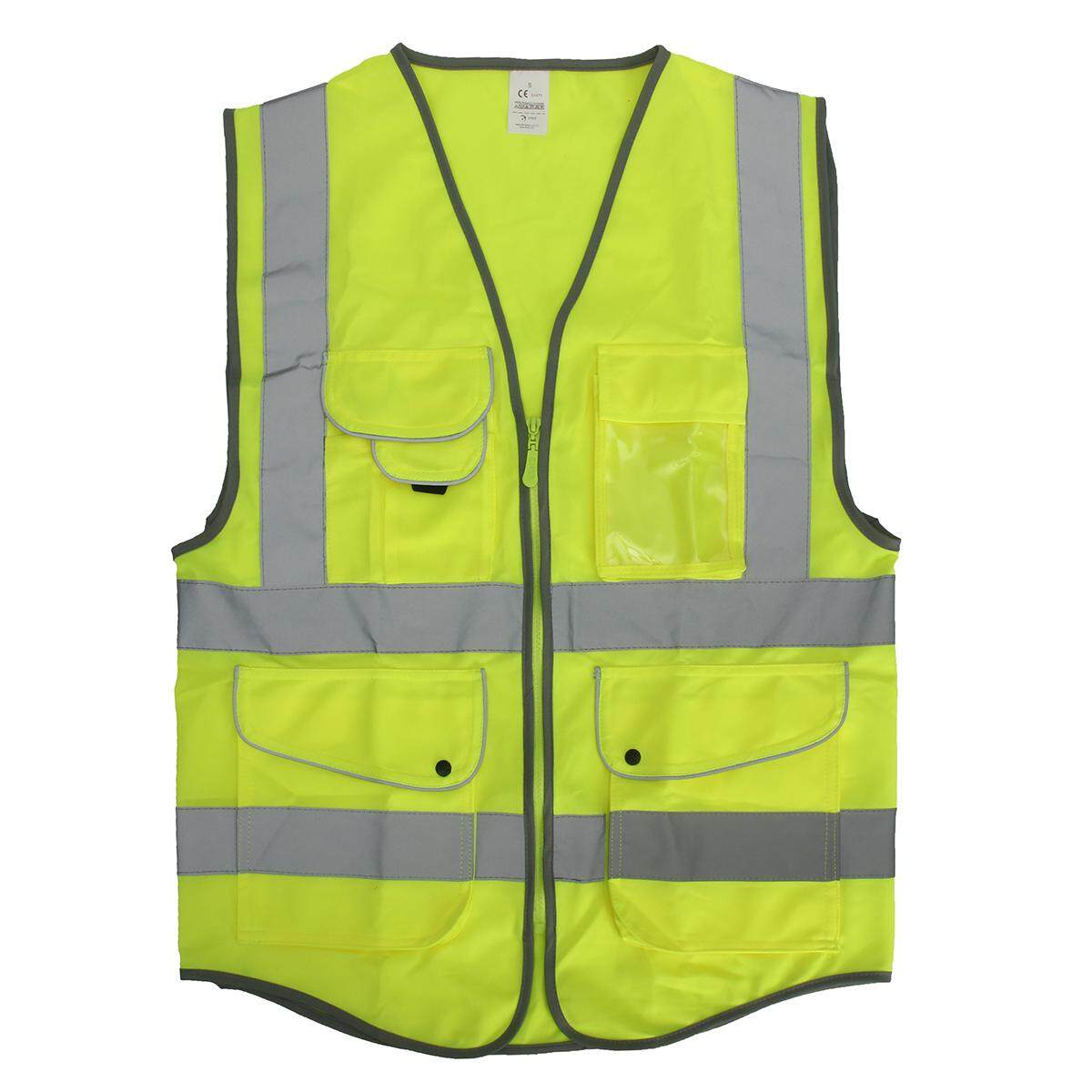 5 Pockets Neon Green High Visibility Reflective Multi Construction Safety Vest - Intl By Audew.