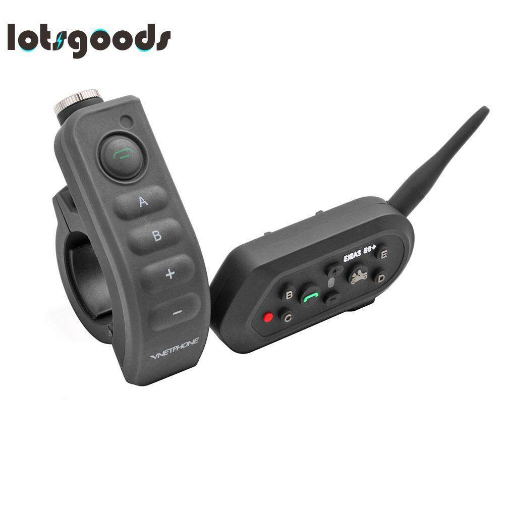 Plus 1200M Motorcycle Helmet Bluetooth Intercom 6 Rider Interphone
