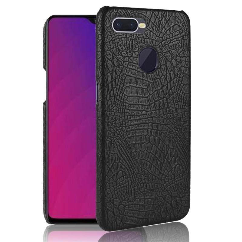 Moonmini Case for OPPO F9 Back Case Crocodile Pattern Slim Fit Hard PC Mobile Phone Case