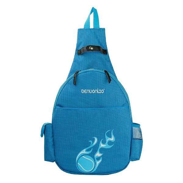 1fcc84091048 Men Women Oxford Cloth Waterproof Tennis Racquet Chest Bag Crossbody Bag  blue