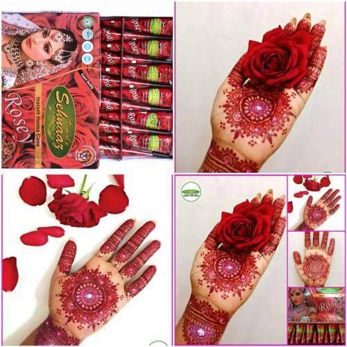 Vimal S Sehnaaz Rosey Henna Cones By Golecha Henna Inai Merah Red