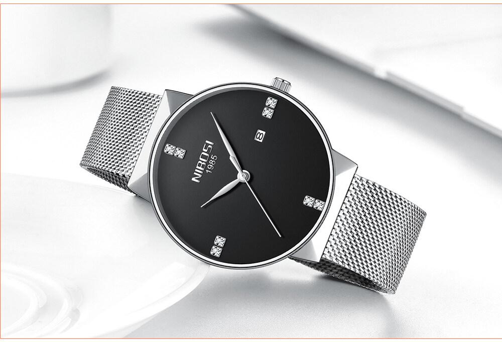 NIBOSI 2018 New Fashion Simple Watch Slim Mesh Band Mens Dress Watches Top Brand Luxury Male Relogio Masculino Quartz Wristwatch (19)