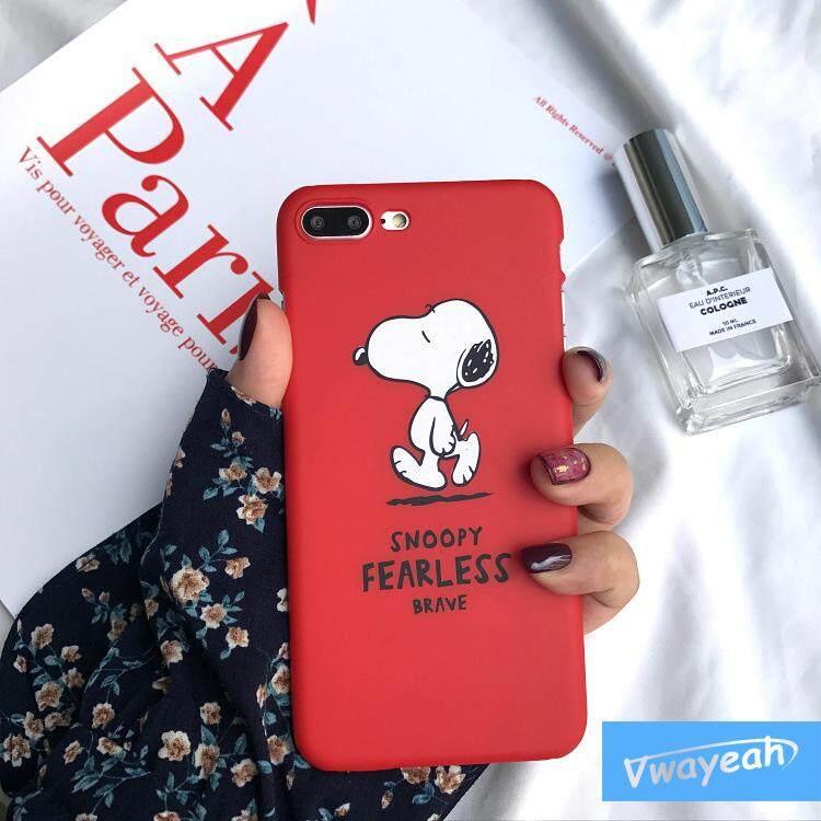 Ins Panas Kawaii Cantik Berjalan Anjing Lucu Jepang Karton Toothy Menyeringai Hal Yang Baik Terjadi Anjing Casing Ponsel untuk Apple iPhone 7 Iphone 8