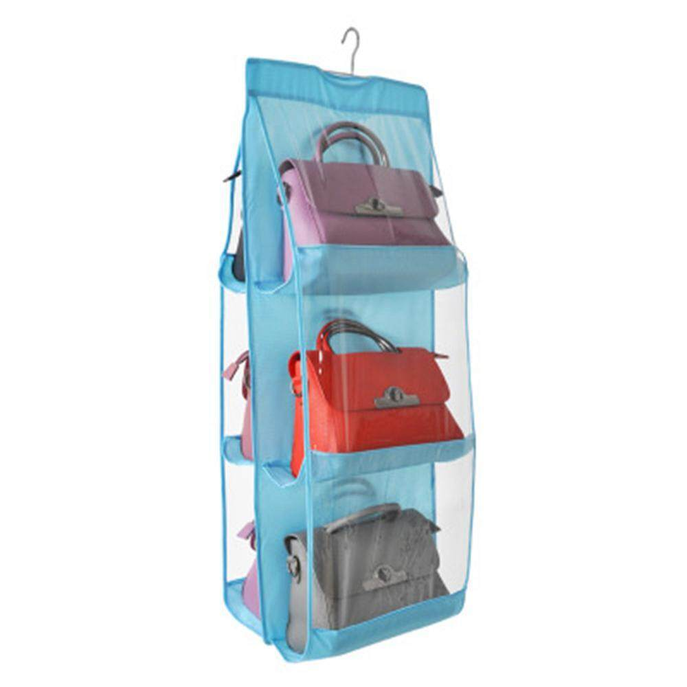 KACOO Hanging Handbag Organizer Dust-Proof Storage Holder Bag Wardrobe Closet For Purse Clutch With 6 Larger Pockets