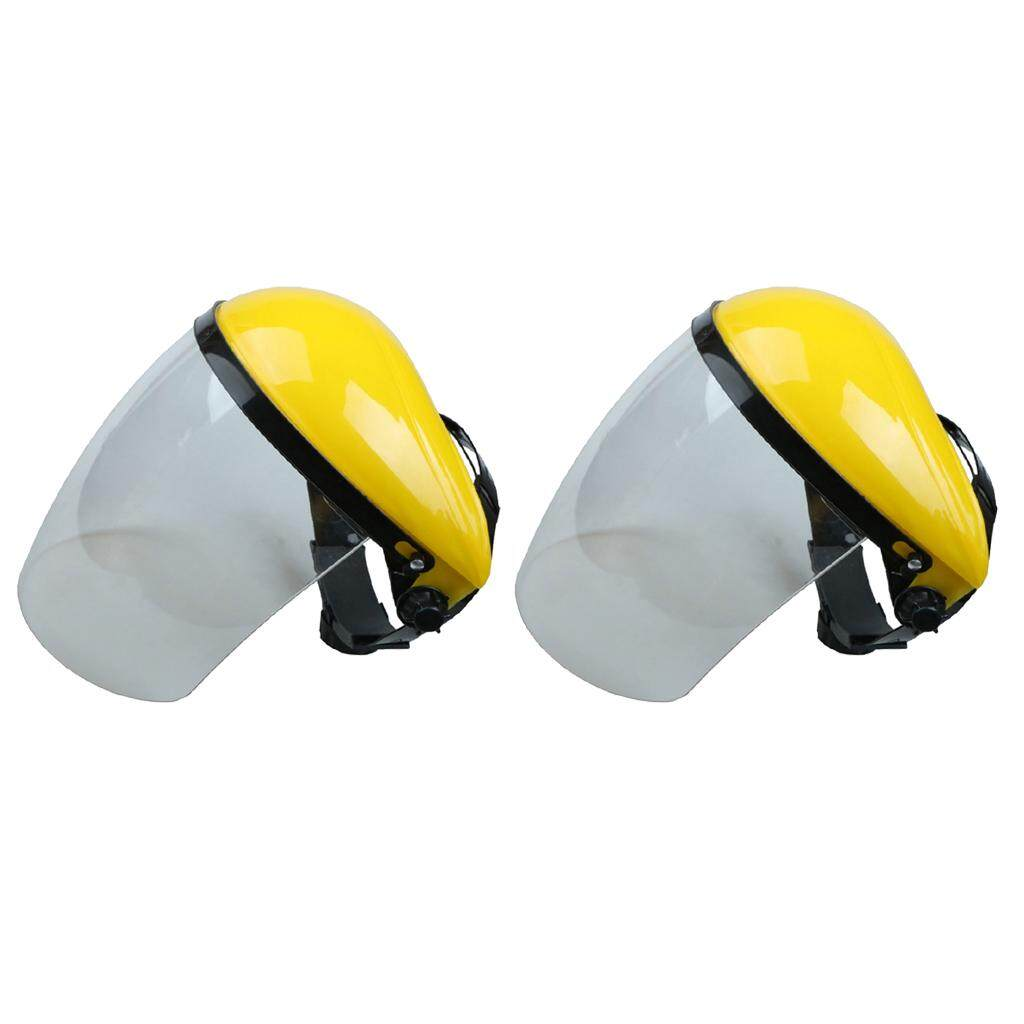 Magideal 2 Pieces Full Face Shield & Visor Hat Hedge Cutting Eye Protective Helmet By Magideal.