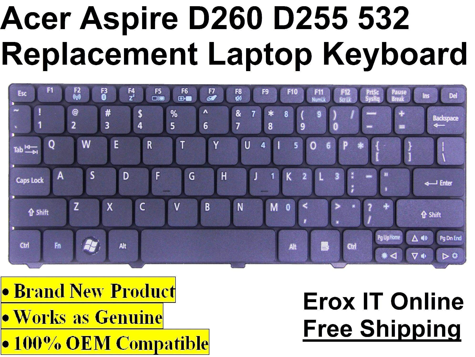 Acer Aspire One D255E Replacement Keyboard /Acer D260 Keyboard Malaysia
