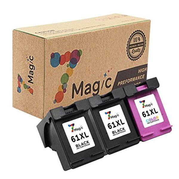 7Magic 7Magic Remanufactured Ink Cartridge Replacement for HP 61XL 61 XL Use in Envy 4500 4501 4502 5530 Officejet 4630 4632 4635 Deskjet 1510 1512 2050 2540 2542 3000 3050 Printer (2 Black & 1 Tri-Color) - intl