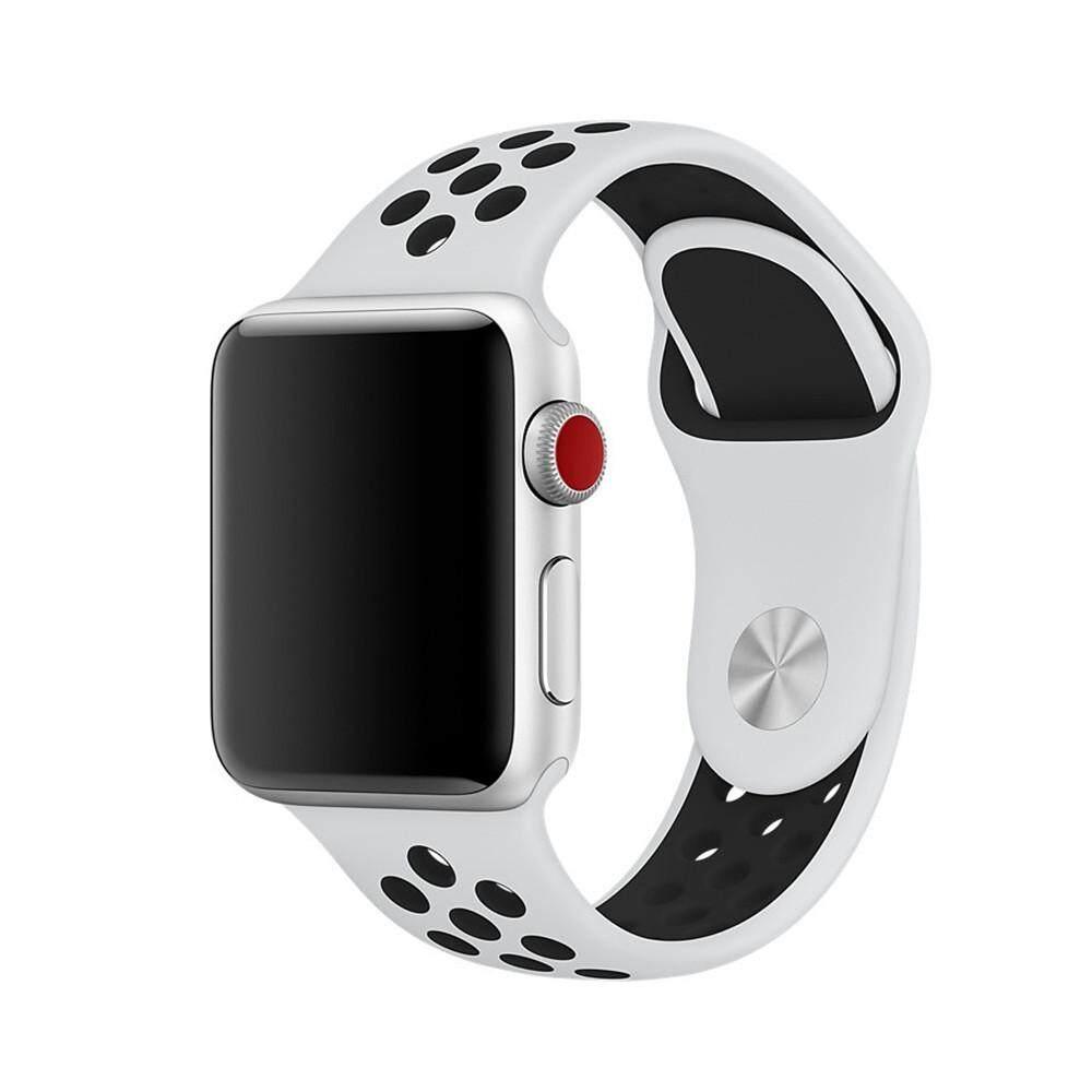 Silikon Tali untuk Apple Jam Tangan Tali 42 Mm 38 Mm Gelang Olahraga Pergelangan Tangan Jam