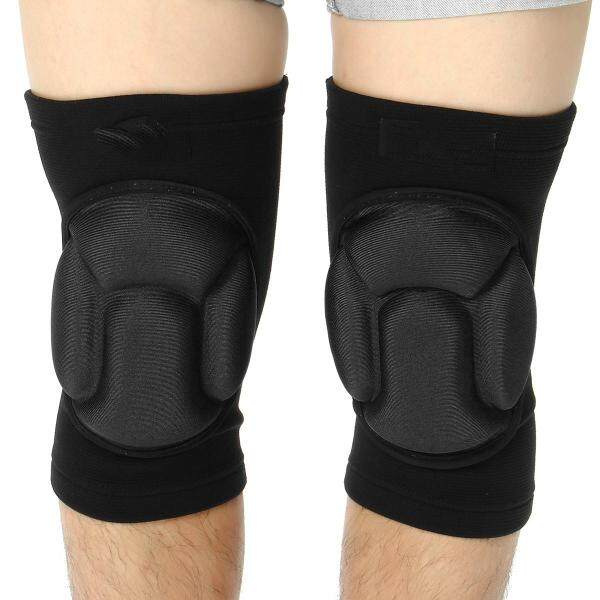 1 Pair Knee Pads for volleyball Work Construction Gardening Cleaning and Dancing - Black (black)