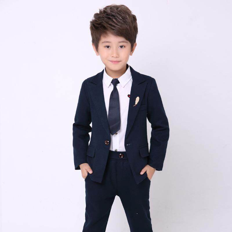 ccbee702d 2pcs/Set Boys Suits For Weddings Kids Prom Suits Black Wedding Suits Kids  Blazers Boys