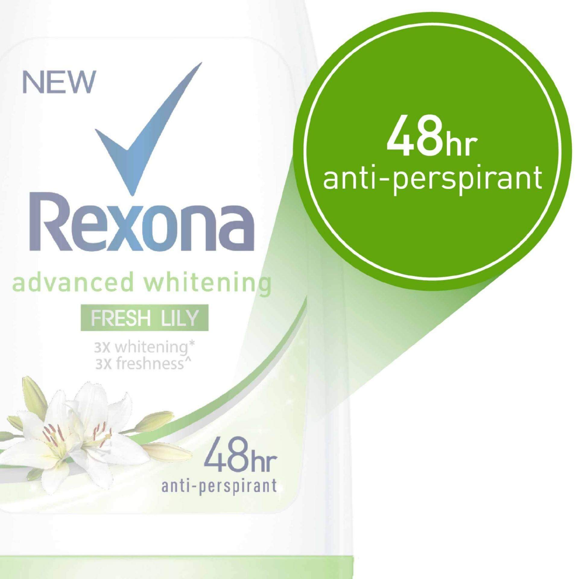 Features Rexona Advanced Whitening Lily Fresh Roll On Deodorant 50ml Natural 3