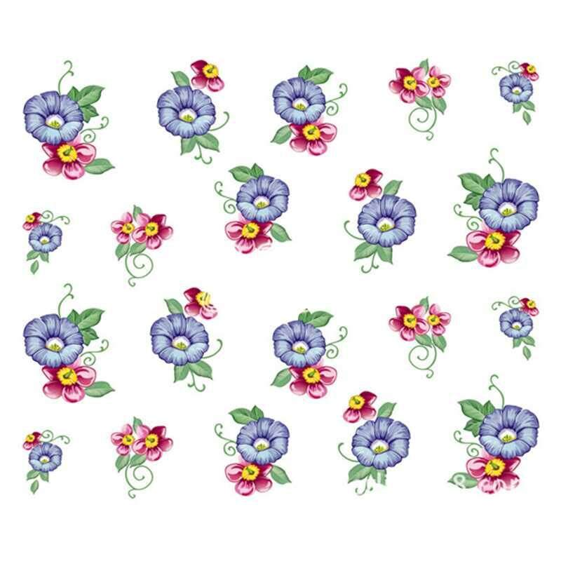 LJAN 50 Sheets Watermark Stickers Temporary Tattoos DIY Nail Art Tips Manicure Decals - intl Philippines