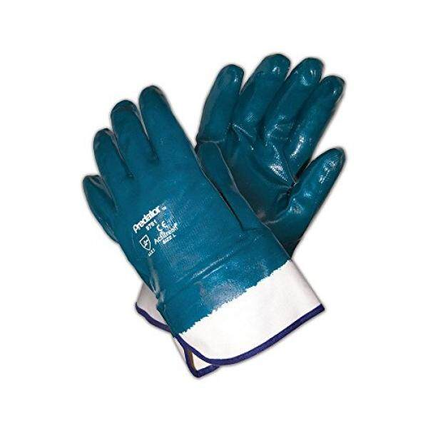 MCR Safety MCR Safety 9761 Predator Fully Coated Nitrile, One Size Fits All, Blue/White (Pack of 12) - intl