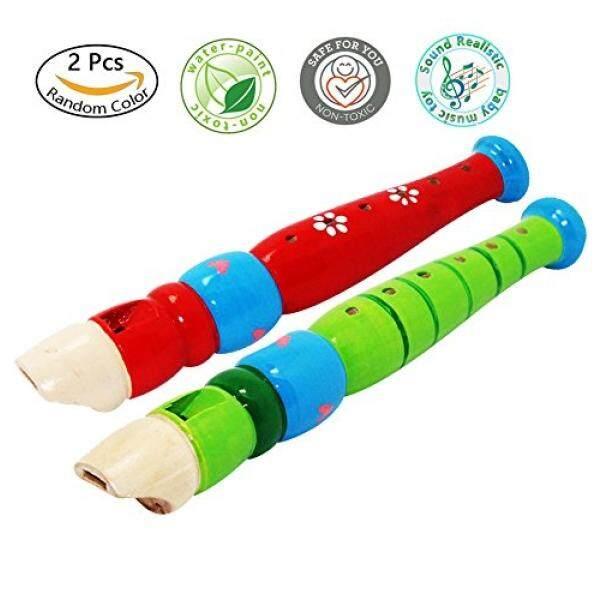 2 Pcs Kayu Kecil Perekam untuk Balita, Warna-warni Seruling Piccolo untuk Anak-