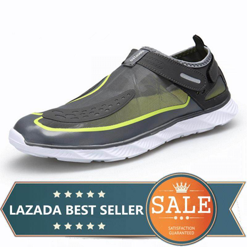 f0bf4a0b9c3489 Men And Women Water Shoes Beach Swim Surf Outdoor Casual Shoes (Grey)