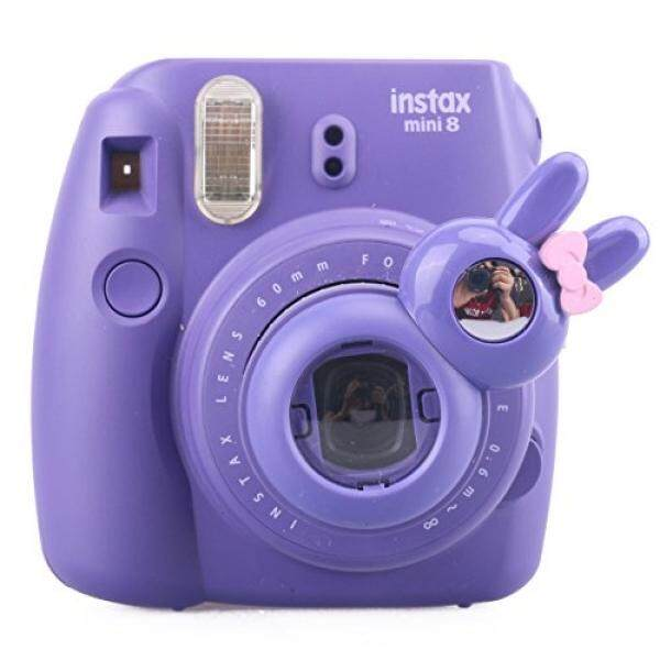 [Fujifilm Instax Mini 7s 8 8+ 9 Selfie Lens] -- CAIUL Rabbit Style Instax Close Up Lens with Self-portrait Mirror For Fujifilm Instax Mini 8 8+ 9 7s Camera and Polaroid PIC-300 (PURPLE)