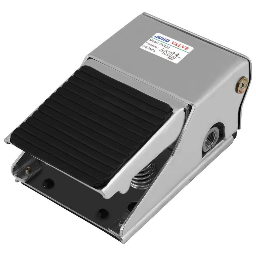 Features Jm 322ppl 13mm Thread 2 Position 3 Way Green Push Button 4 Switch Threaded Air Pneumatic Pedal Valve Foot Press Control G1