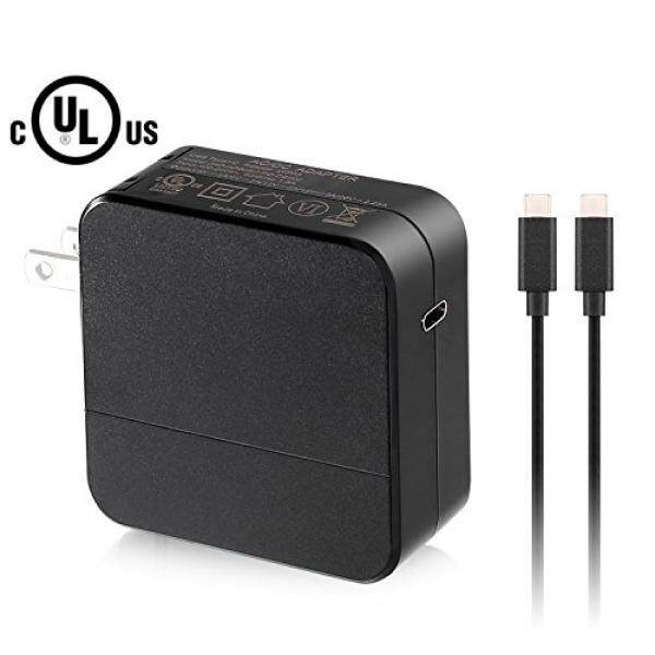 Wall Chargers GUKIMAX 45W USB C Charger With 1.8m Cable Type-C 3.0 ports PD Wall Charger Adapter for Macbook Pro,Nintendo Switch,iPhone X/8/8Plus,Google Pixel,Moto Z Samsung Mate Book and More (black) - intl