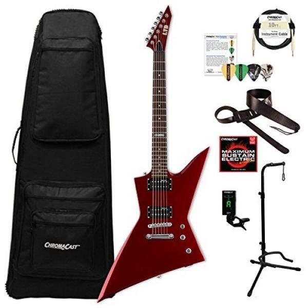 ESP LEX50BCM-KIT-1 EX Series EX-50 BCM Electric Guitar, Black Cherry Metallic