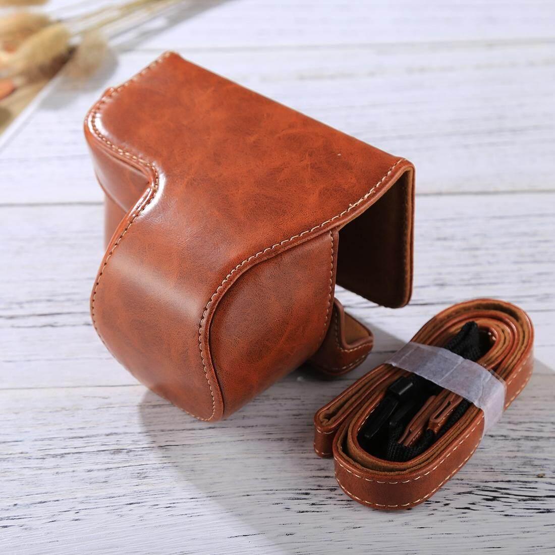 Penuh Kamera Badan PU Case Kulit Tas dengan Tali untuk Sony A6000 (Coklat)-Intl