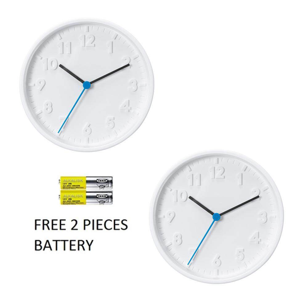 Home Clocks Buy At Best Price In Malaysia Lazada Jam Dinding Unik Artistik Owl Wall Clock 2 X Ikea Stomma White Battery Included