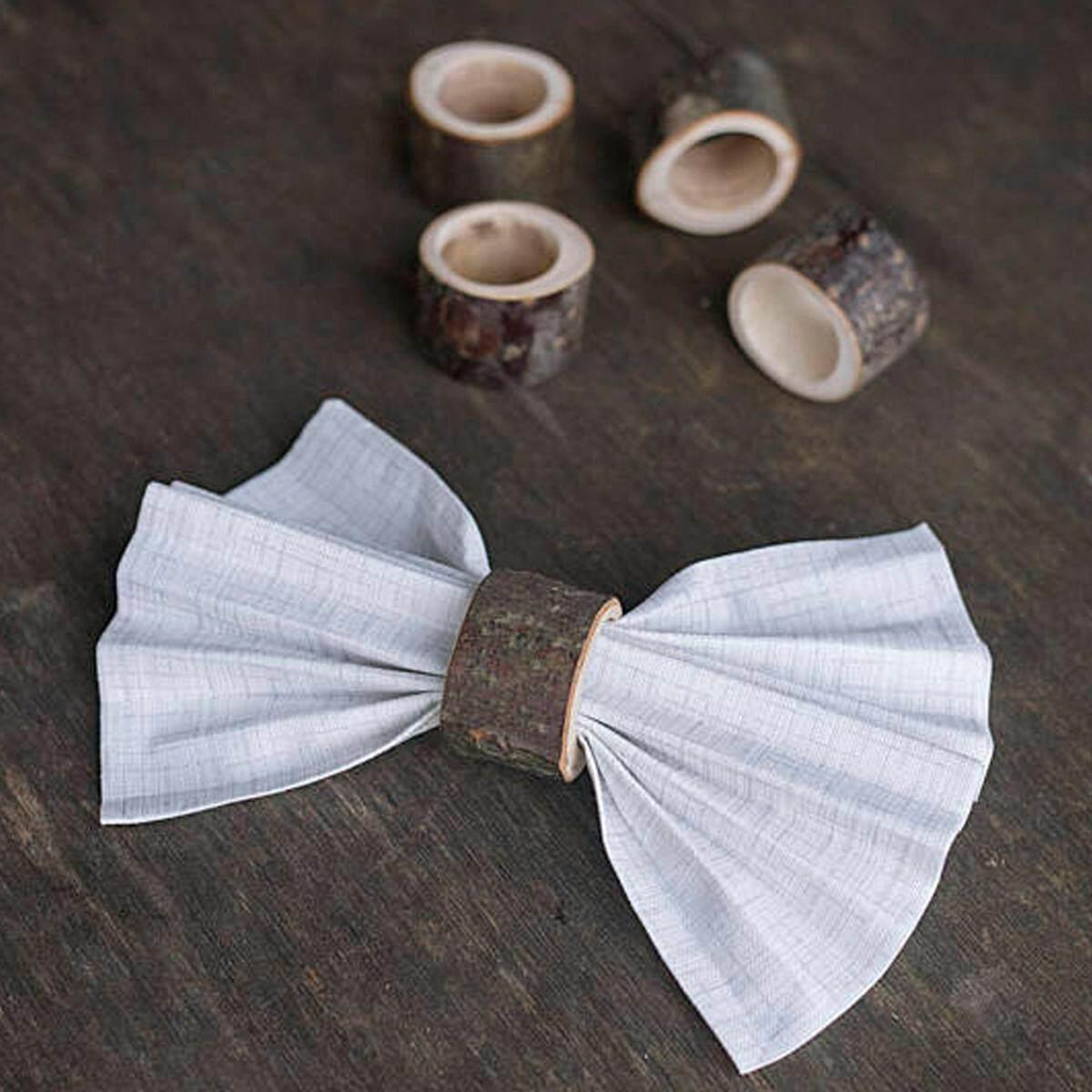 leegoal Rustic Wood napkin ring, Wedding Napkin Holder For Table Decor