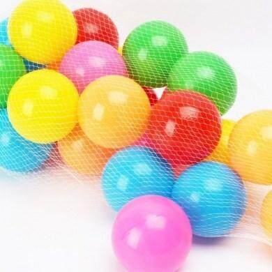 BRIGHT COLOUR AND LIGHTWEIGHT PLASTIC 50PCS PACK PLAYBALL