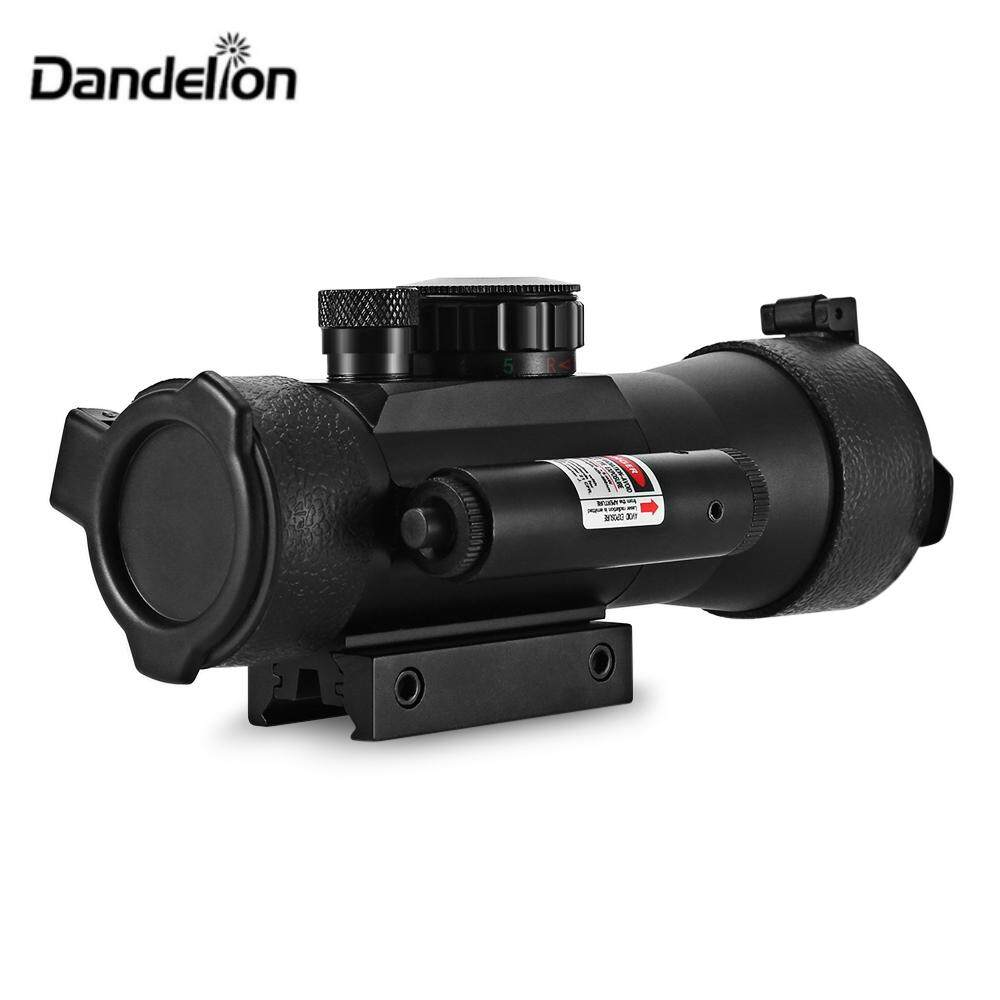 Dandelion 2 X 42 Outdoor Tactical Red Green Dot Laser Telescope Sight For 20mm Weaver Rail Bow.