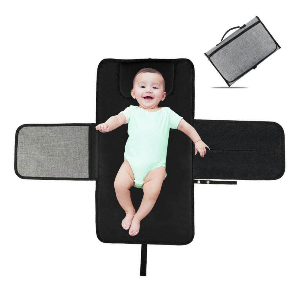 Aolvo Portable Changing Station For Newborn Baby Infant - Lightweight Travel Home Diaper Changer Mat With Pockets - Waterproof Foldable Changing Pad Kit - Intl By Aolvo.