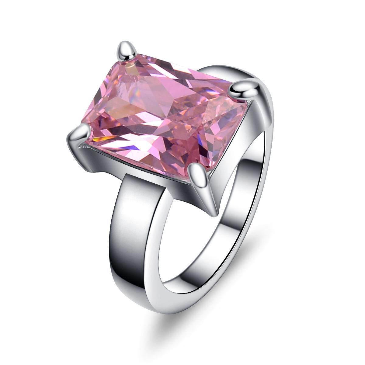 Terbaik Jual Perhiasan Wanita Berlian Emas Putih Cincin Berlian Hari Kasih Sayang Aksesoris-Intl