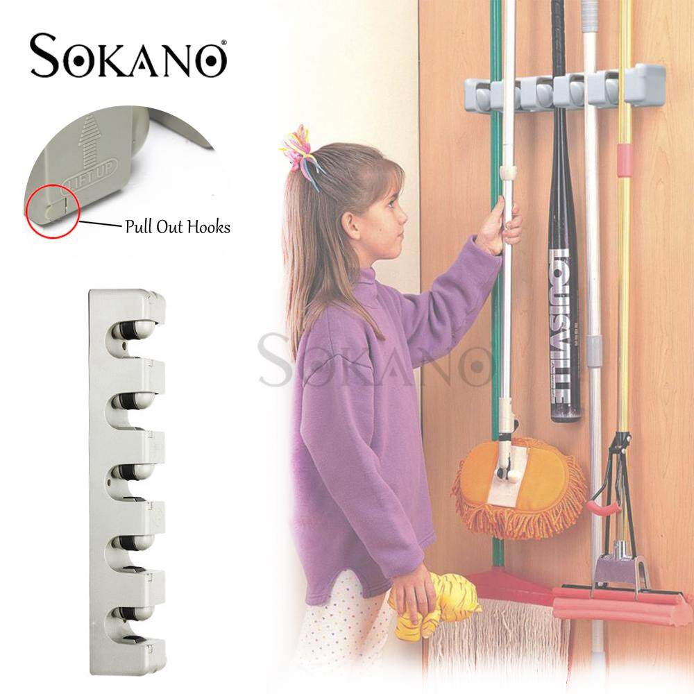 (RAYA 2019) SOKANO EZ Mop Holder and Broom Organizer + Pull Out Hooks