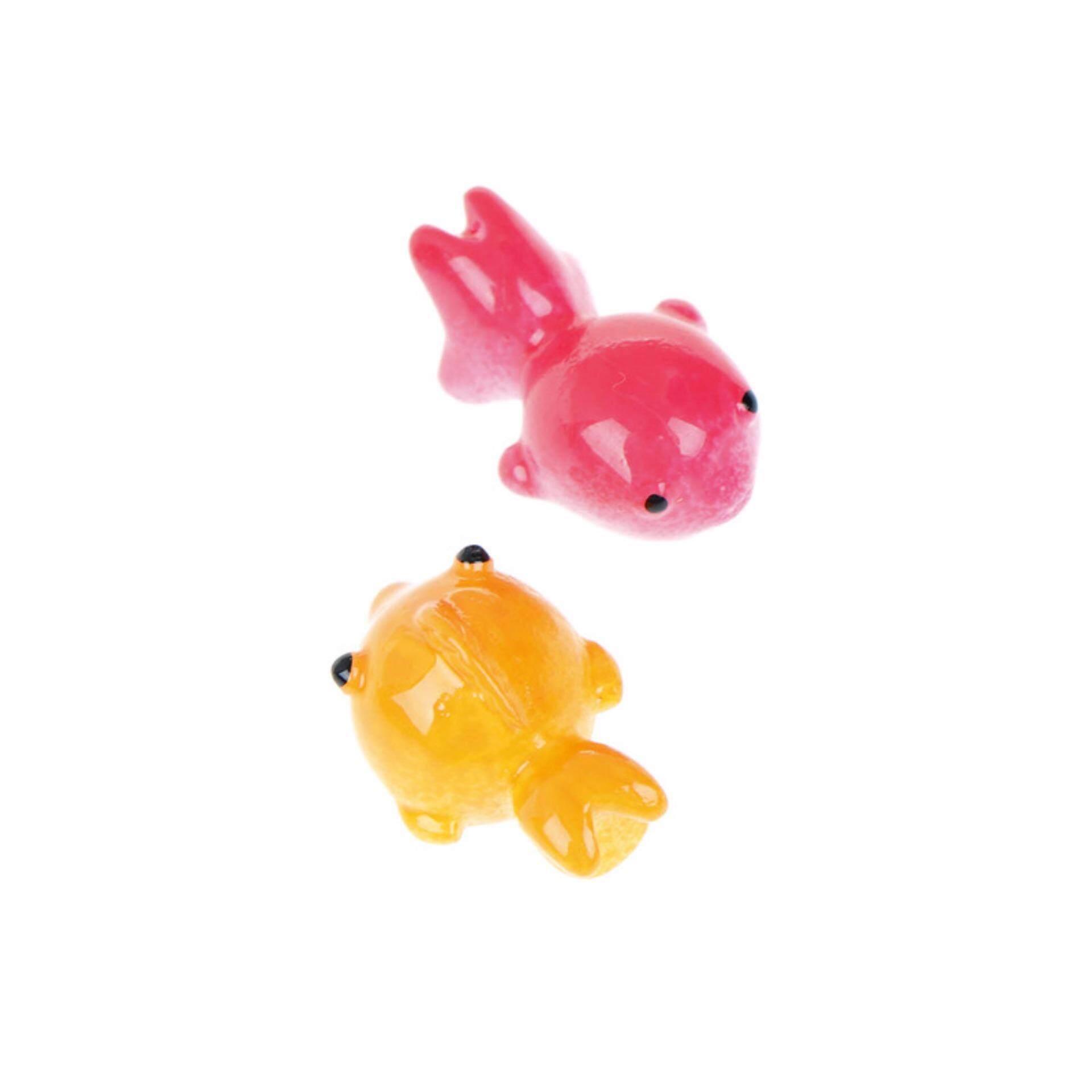 Goldfish Resin Miniature Figurine Garden Dollhouse Decor Micro Landscape 2pcs